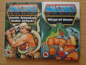 2 Ladybird Books Masters of Universe. Wings Doom, Castle Grayskull under attack