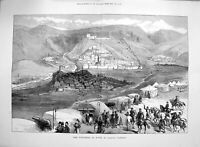 Original Old Antique Print 1877 Fortress Kars Asiatic Turkey Siers Mountains