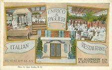 Apex Enrico Paglieri Italian Restaurant New York Interior 1920s Postcard 8057