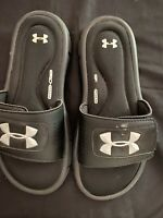 UNDER ARMOUR 4D Foam black slides sandals youth  size 6Y