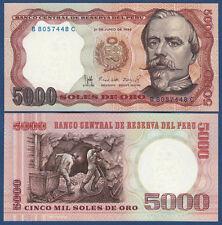 PERU 5000 Soles de Oro 1985  UNC  P.117 c