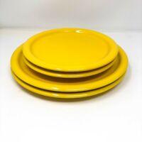 "Waechtersbach Germany Set Salad & Dinner Plates Yellow 7 3/4"" and 10"" diameter"