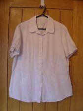 Austin Reed White Pink Pin Stripe Blouse Top Size 16(Ref P) Ex Con