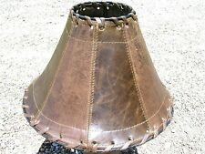 Western Leather Lamp Shade 2197
