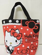 Red/Black Hello Kitty Spot Printed Girl Causal Hand Bag w/tag
