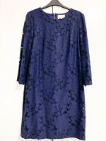 Phase Eight Kacie Navy Blue Lace Shift Dress Size 12