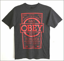 New OBEY Propaganda Manufactured Dissent gray cotton t-shirt - size M