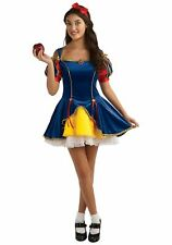 Snow White Fairytale Princess Teen Fancy Halloween Costume Fits Dress Size 2-6