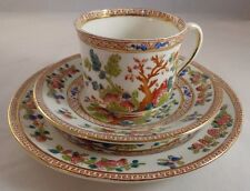 Royal Albion China Indian Trees Trio Teacup Cup Saucer Side Plate VGC