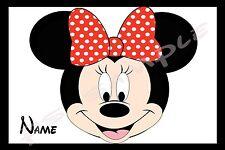 4x6 Disney Cruise Stateroom Door Magnet - MINNIE HEAD - Personalized