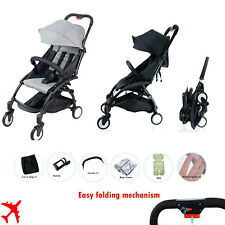 Black Grey Compact Travel Stroller With Rain Cover All accesories