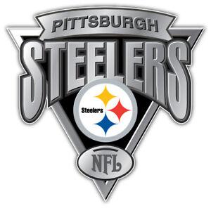 "Pittsburgh Steelers NFL Sport Silver Logo Car Bumper Sticker Decal ""SIZES"""