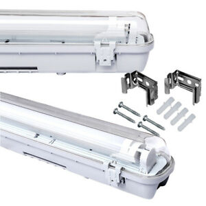 LED Feuchtraumleuchte Leuchtstoff Lamp Wannenleuchte  inkl. LED Röhre T8 IP65