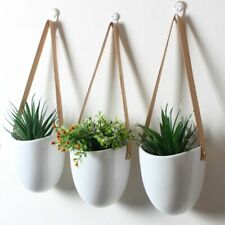 Wall Hanging Flower Pot 3 Pcs Ceramic Home Decoration Planter Balcony Holder