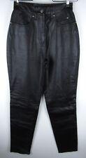 Harley Davidson Motorcycle Riding Black Biker Leather Pants Size 32/4 New