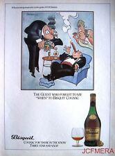 1980 BISQUIT Cognac 'The Guest #2' Advert - Jensen after Bateman Series Print AD
