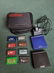 Nintendo Gameboy Advance SP consoles - 8 Games - Charger - Case