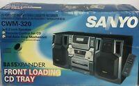 Sanyo CD Portable AM/FM Stereo Cassette Recorder Boombox Detach Speaker CWM 320