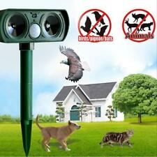 Ultrasonic PIR Motion Animal Chaser Repeller Repellent Cat Dog Fox Deterrent