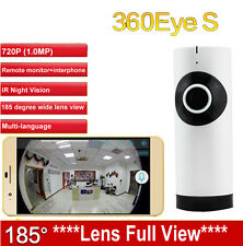 185 degree lens 360eyeS IPC WiFi camera cctv monitor IP Camera 720P baby monitor