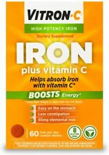 Vitron-C High Potency Iron Supplement with Vitamin C | Boosts Energy | 60 Count
