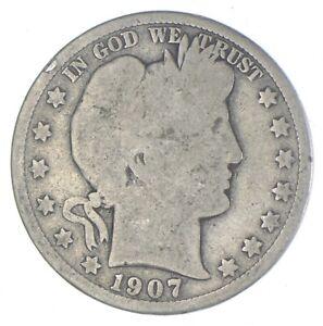 Better 1907-D - US Barber 90% Silver Half Dollar Coin Collection Set Break *765