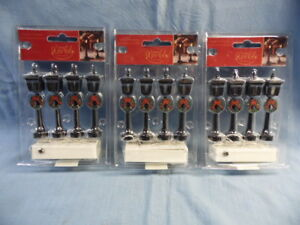 3 Pkg. OF 4 MINI WORLD LIGHT-UP LAMPS - NEW IN PACKAGES!