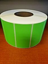 "4"" X 2"" Green Thermal Transfer Labels  (New!) - Sold By the Roll"