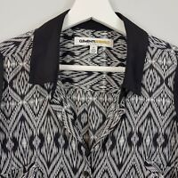 [ CLEMENTS RIBEIRO ] Womens Print Blouse Top | Size M or AU 12 / US 8