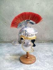 Medieval Roman Centurion Helmet Armor Red Crest Plume Gladiator Costume miniatur