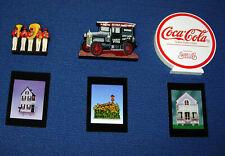 (3)  Coca-Cola Shelia's Collectible Historic Miniatures & Trading Cards    H046