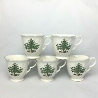5 Mugs Cups Coffee Tea Nikko Japan Christmas Happy Holidays EUC