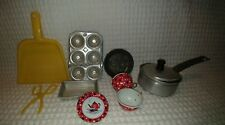 1950's Vintage The Ohio Art Co Childrens Tea Cups Saucer + 7 pieces Kitchen SALE