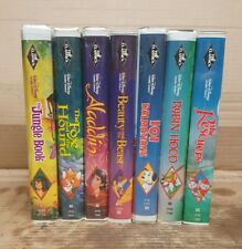 LOT OF 7 Walt DISNEY BLACK DIAMOND MASTERPIECE COLLECTION VHS Classics Movies