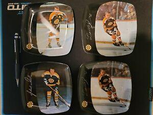 Set Of 4 1971 Bruins Commemorative Plates