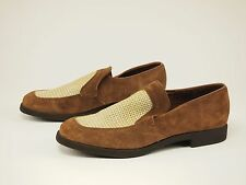 80s HUSH PUPPIES Vintage Suede Woven Slip-on Dress Shoes 8.5 - 9