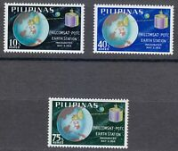 Philipinas 1968 MNH Sc 990-992 Philcomsat Station in Tany, Luzon. Space **