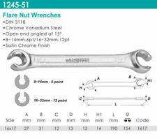 Whirlpower Flare Nut Wrench Satin Finish (5-SET) 16x17mm 18x19 20x22 21x23 24x27