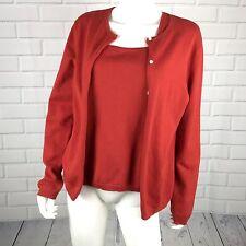 Lauren Ralph Lauren Womens Tank Cardigan Size Medium Christmans Holiday Red