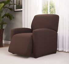 """""""A GREAT PRICE"""" -CHECKERBOARD STRETCH RECLINER COVER--BROWN--AVAIL. IN ALL SIZES"""