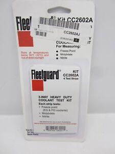 CC2602A Fleetguard Cooling Analysis 4 pack Coolant Test DCA SCA Diesel Cummins