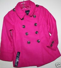 Gap Kids NWT Girl's Pink Boucle' Wool Blend Pea Coat Jacket