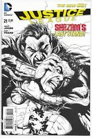 JUSTICE LEAGUE #21 1:100 SKETCH GARY FRANK VARIANT NM BLACK ADAM VS SHAZAM DC
