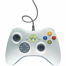 Microsoft Xbox 360 OEM Wired Controller In White  Very Good 0Z