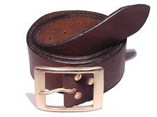 01692fd432ad Laiton rectangle 1 3 4 pouces en cuir ceinture taille homme femme noir  marron tan