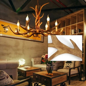 6 Hirschgeweih Lampe  Kronleuchter LampeResin Leuchte Chandelier Hanging Lamp