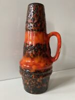SCHEURICH Vase Keramik 60s 70s WGP Form 400-22  orange Fat Lava WGP