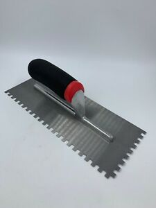 "Tilers Floor 6mm Square Notch Tile Adhesive Stainless Steel Trowel 11"" 280mm"