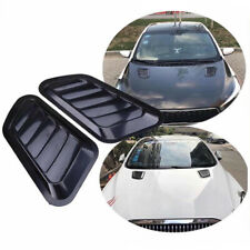 2x Universal ABS Car Decor Air Flow Intake Scoop Vent Cover Sticker Hood Fender