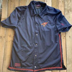 USG NBA Cleveland Cavaliers Basketball Warm Up Jersey Snap Front Shirt Size L